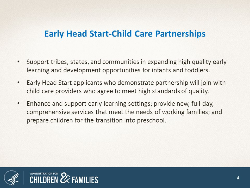 Early Head Start-Child Care Partnerships