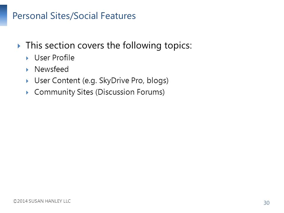 Personal Sites/Social Features