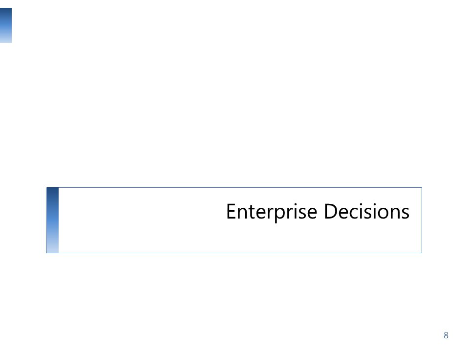 Enterprise Decisions