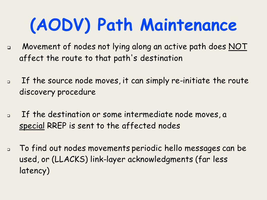 (AODV) Path Maintenance