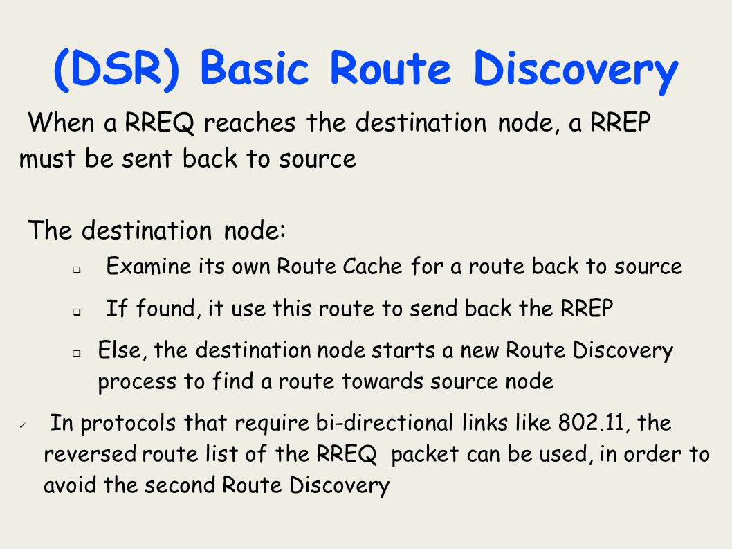 (DSR) Basic Route Discovery