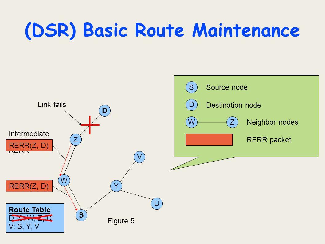 (DSR) Basic Route Maintenance