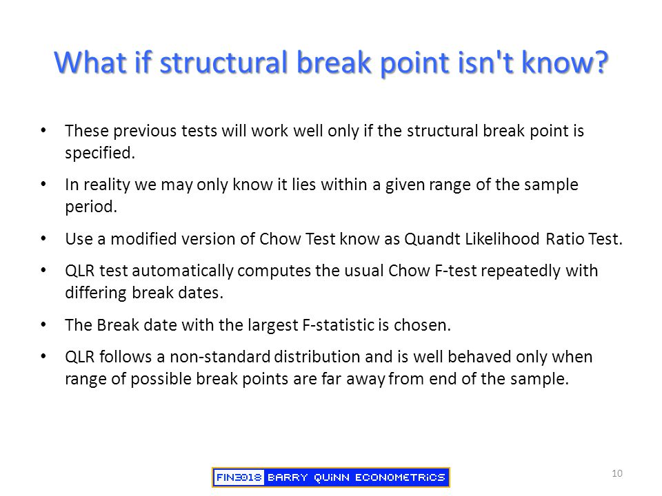 What if structural break point isn t know