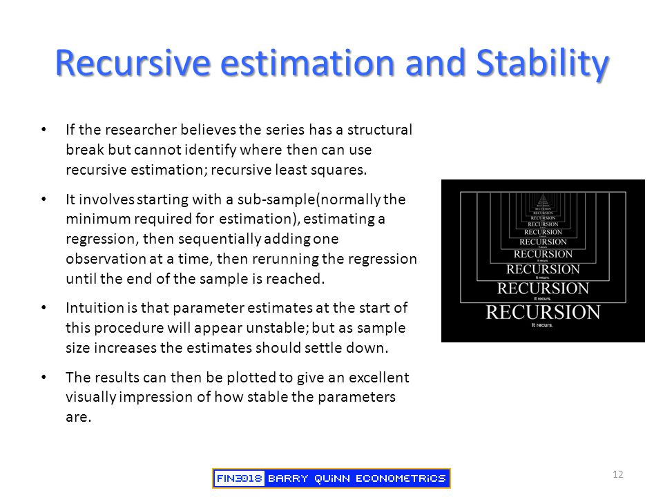 Recursive estimation and Stability
