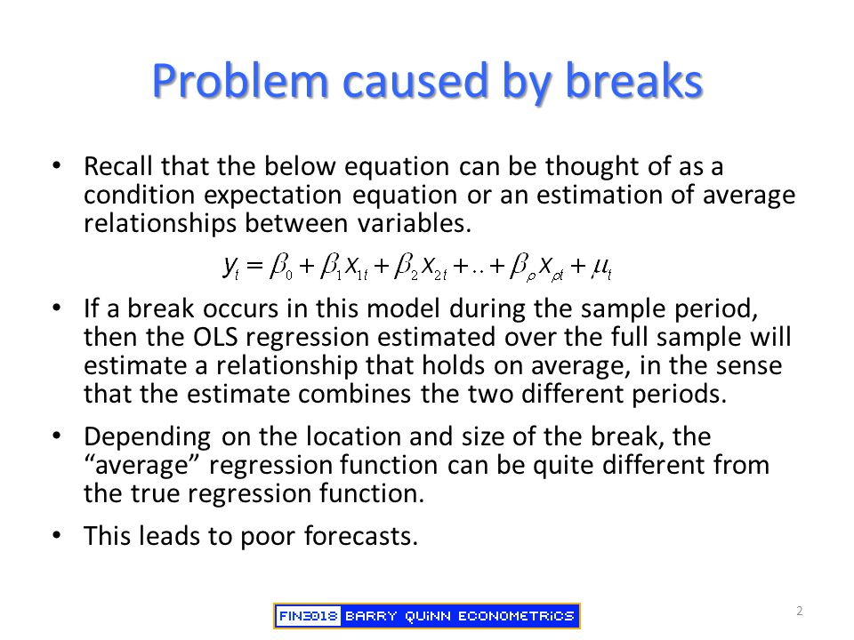 Problem caused by breaks
