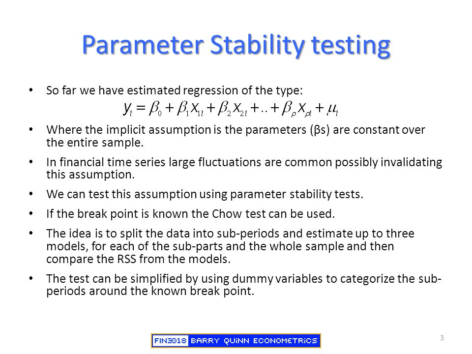 Parameter Stability testing