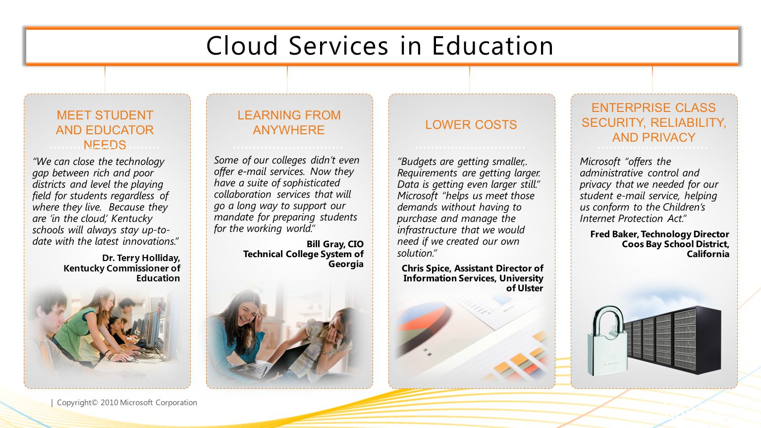 Cloud Services in Education