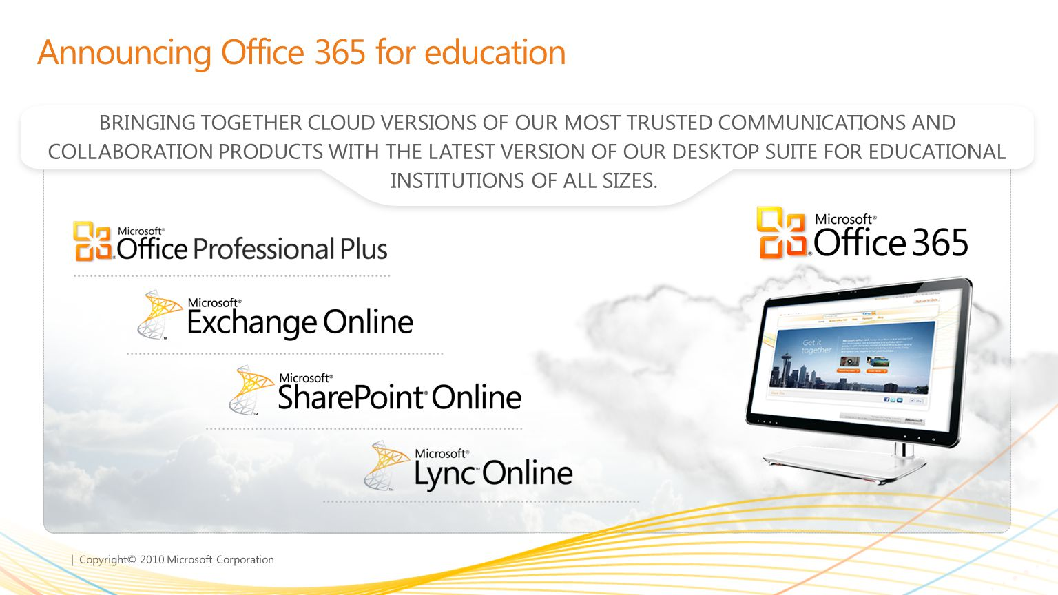 Announcing Office 365 for education