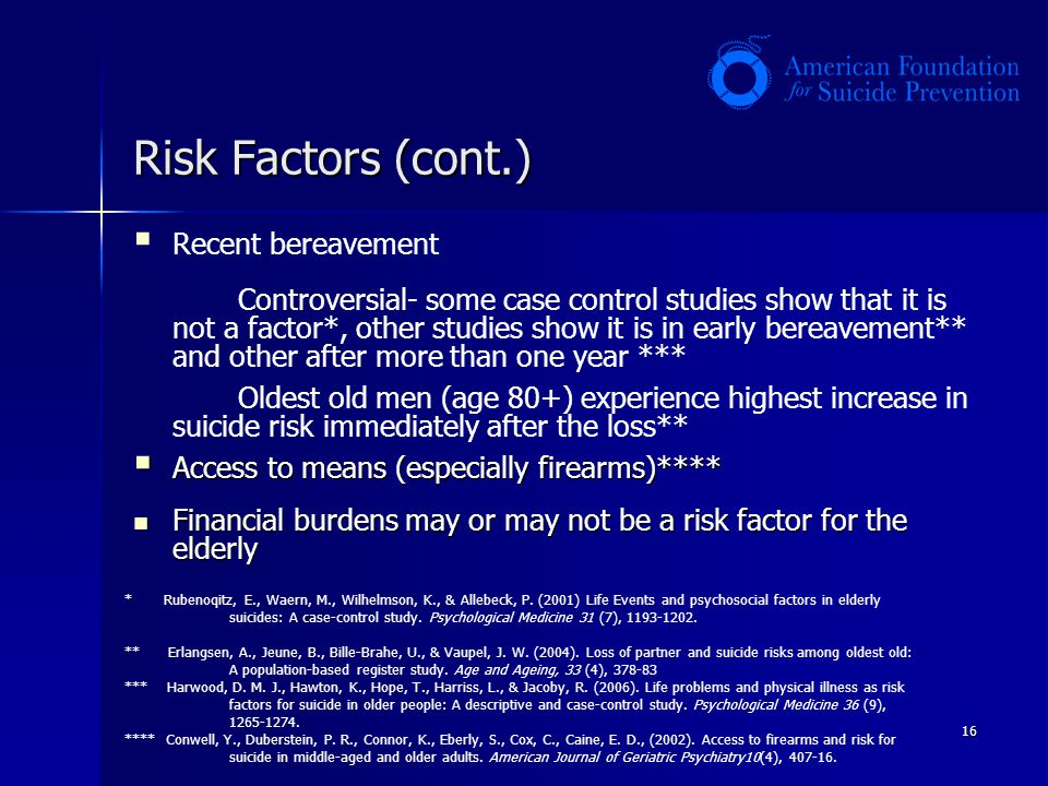 Risk Factors (cont.)