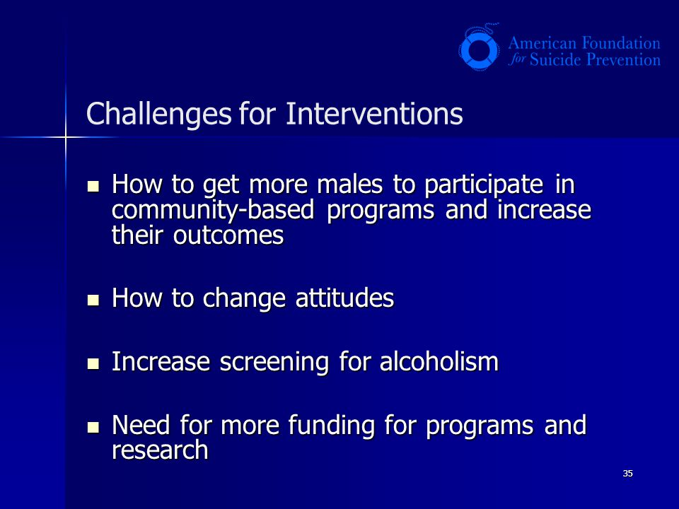 Challenges for Interventions