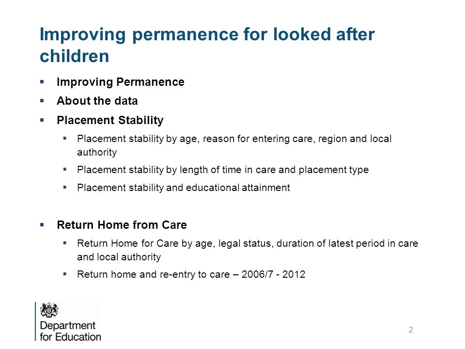 Improving permanence for looked after children