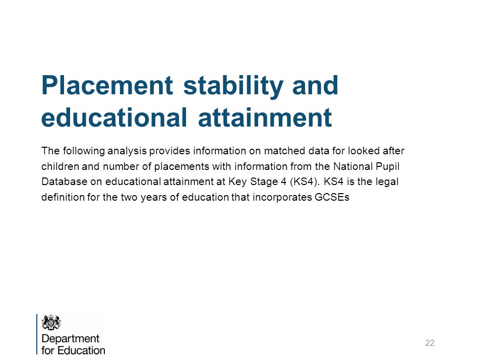 Placement stability and educational attainment