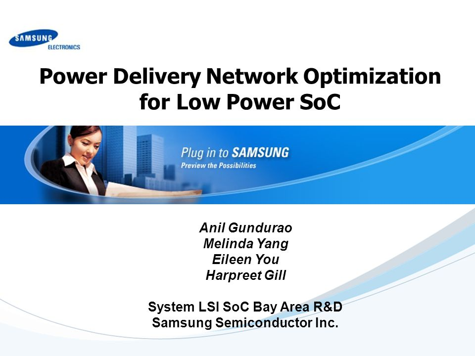 Power Delivery Network Optimization for Low Power SoC