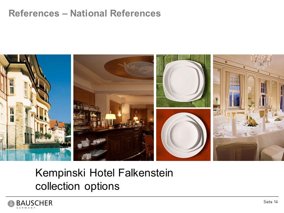 Kempinski Hotel Falkenstein collection options
