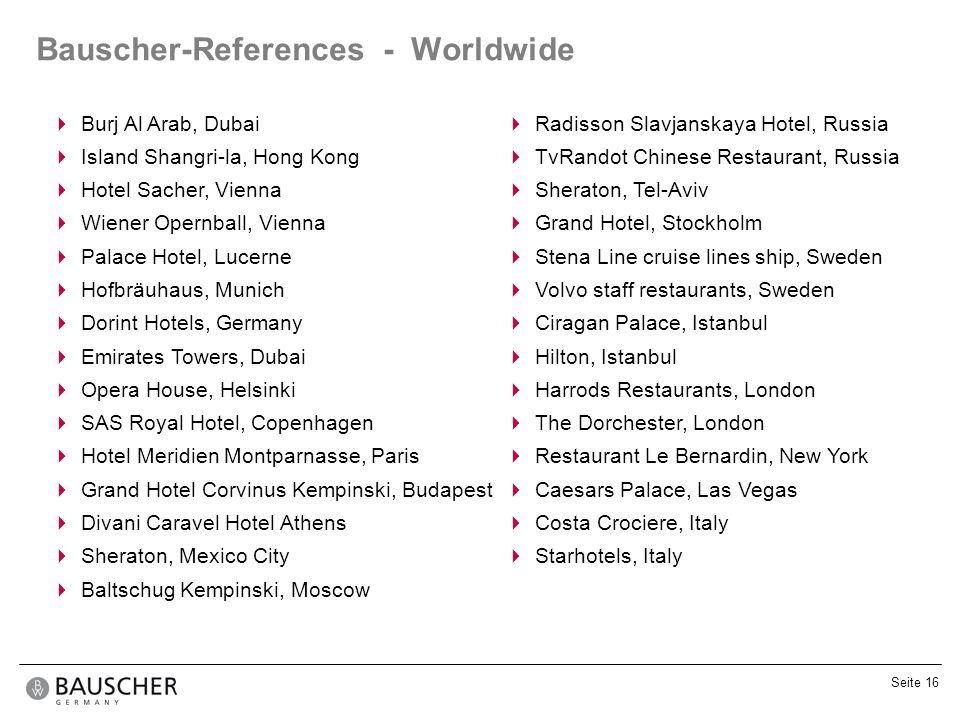 Bauscher-References - Worldwide