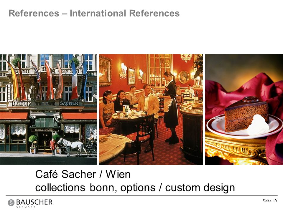 collections bonn, options / custom design