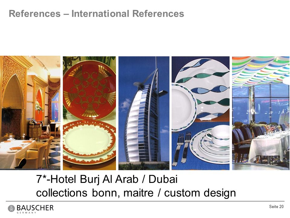 7*-Hotel Burj Al Arab / Dubai collections bonn, maitre / custom design