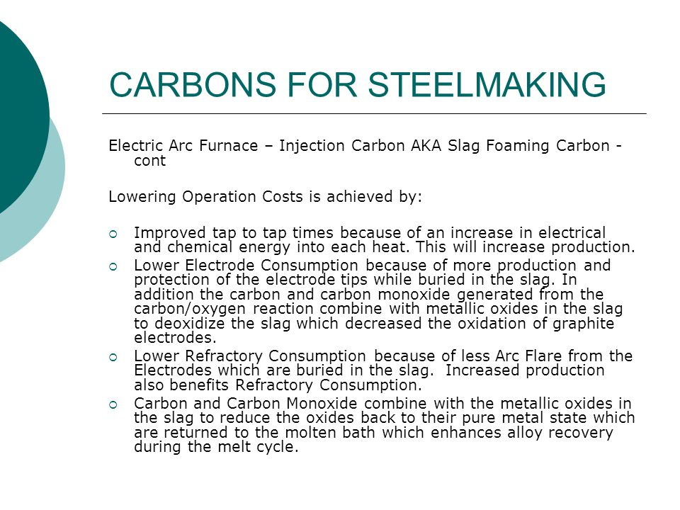 CARBONS FOR STEELMAKING