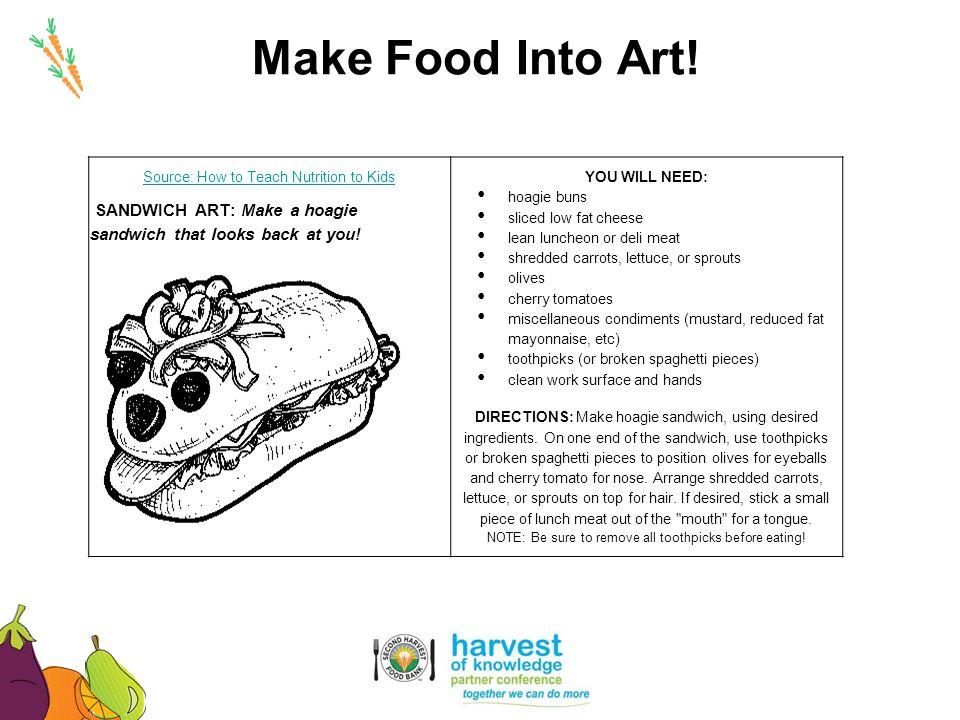 SANDWICH ART: Make a hoagie sandwich that looks back at you!