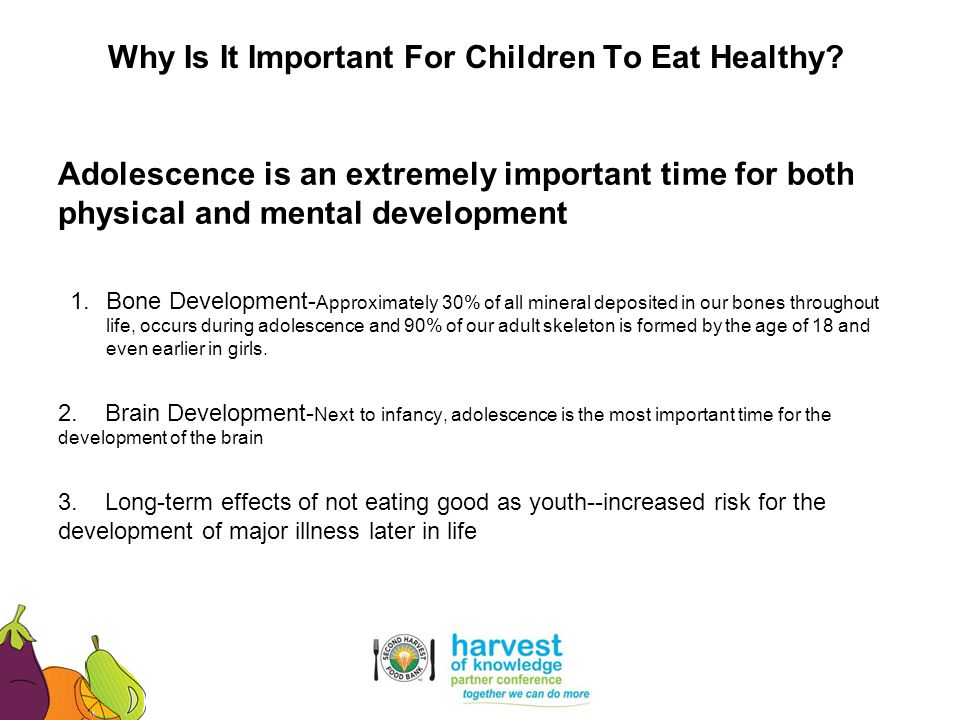 Why Is It Important For Children To Eat Healthy