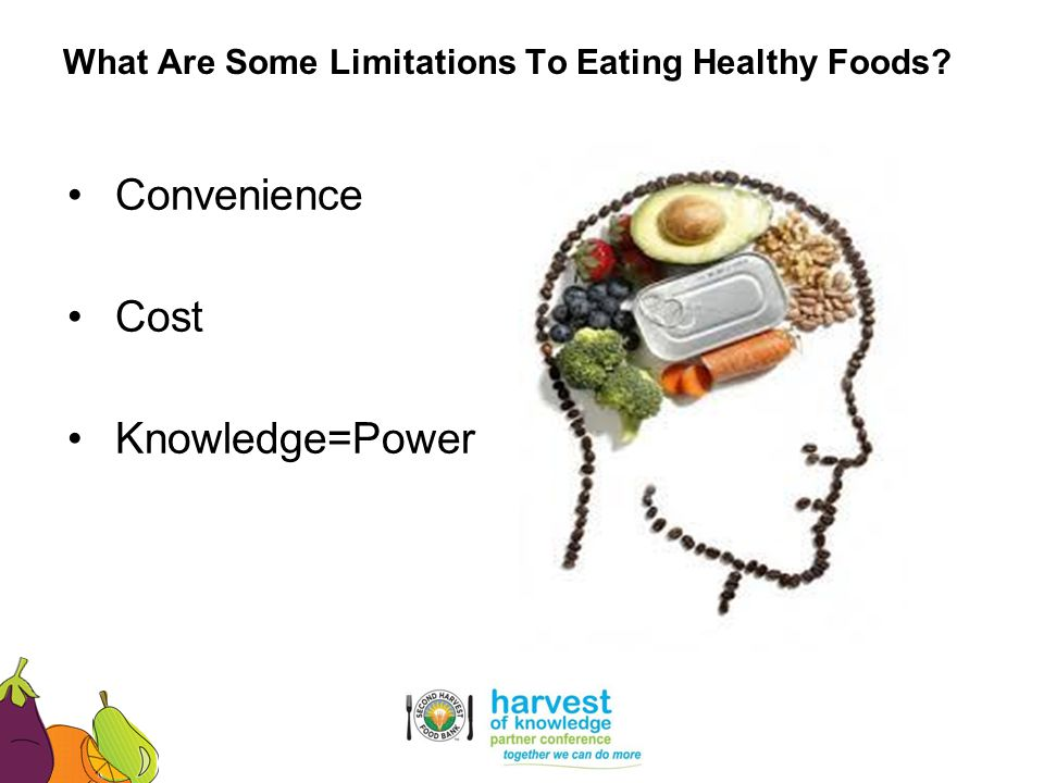 What Are Some Limitations To Eating Healthy Foods