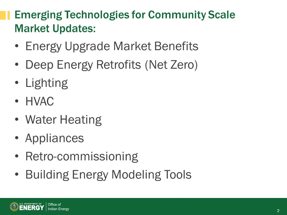 Emerging Technologies for Community Scale Market Updates: