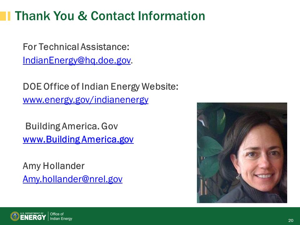 Thank You & Contact Information