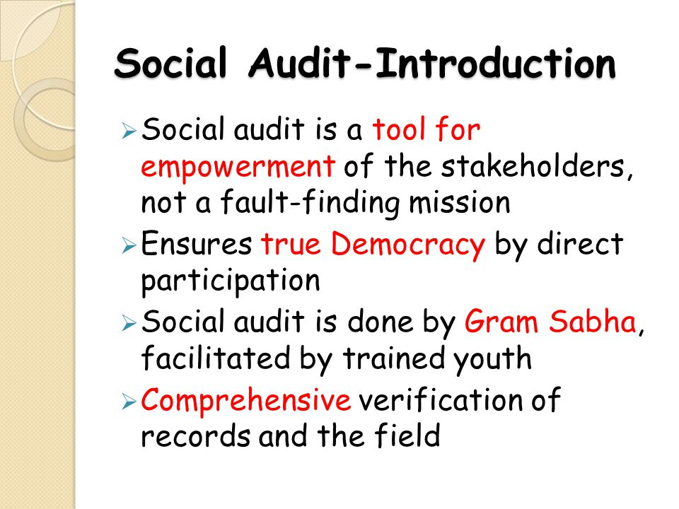 Social Audit-Introduction
