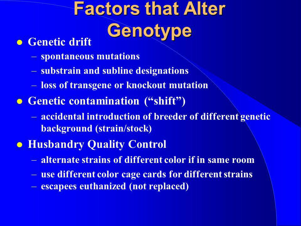 Factors that Alter Genotype