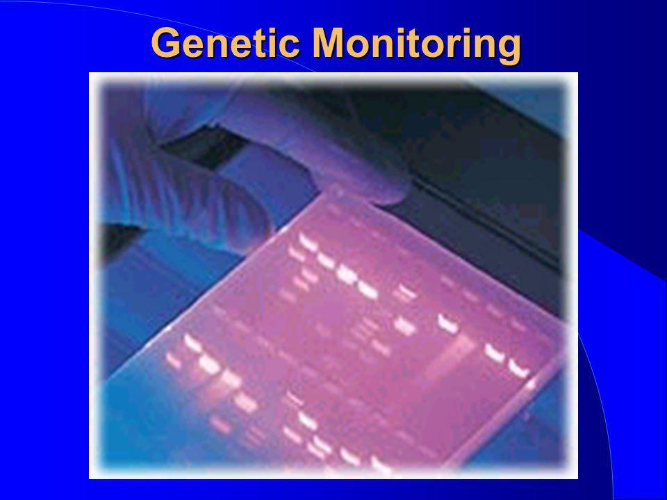 Genetic Monitoring If anyone has not seen an example of DNA fingerprinting here is an example.
