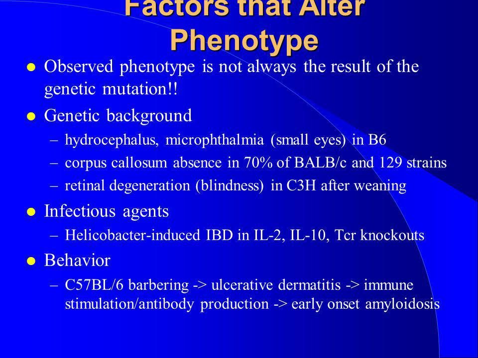 Factors that Alter Phenotype