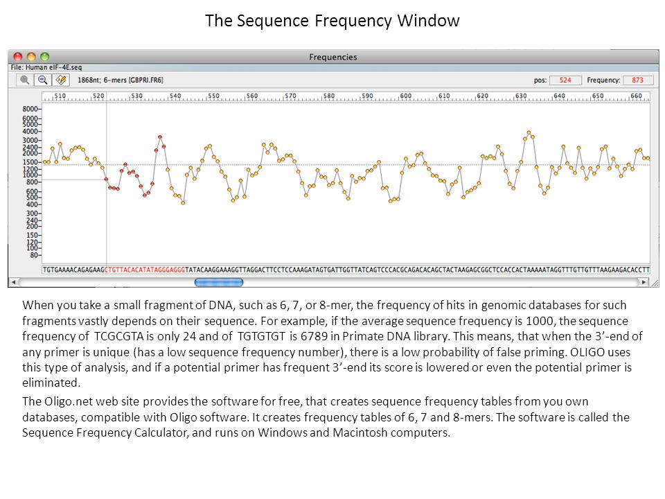 The Sequence Frequency Window