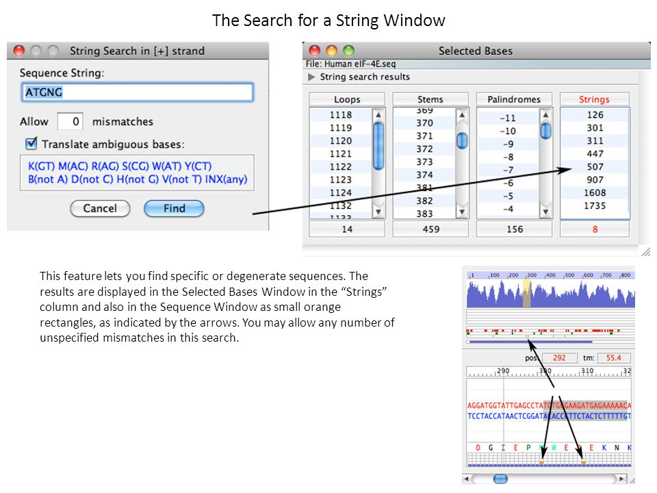 The Search for a String Window
