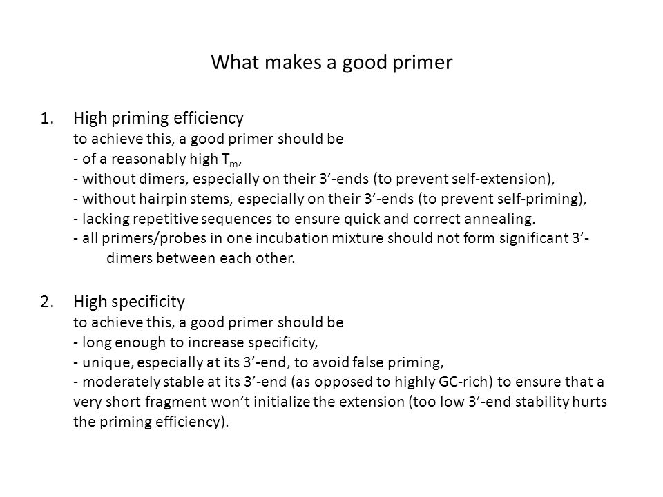 What makes a good primer
