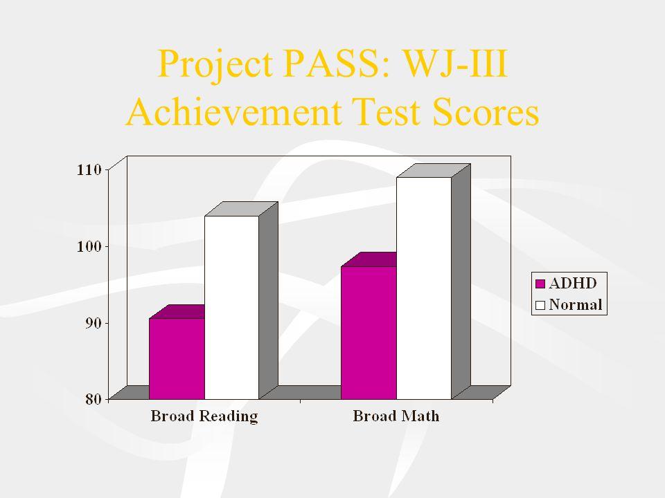 Project PASS: WJ-III Achievement Test Scores