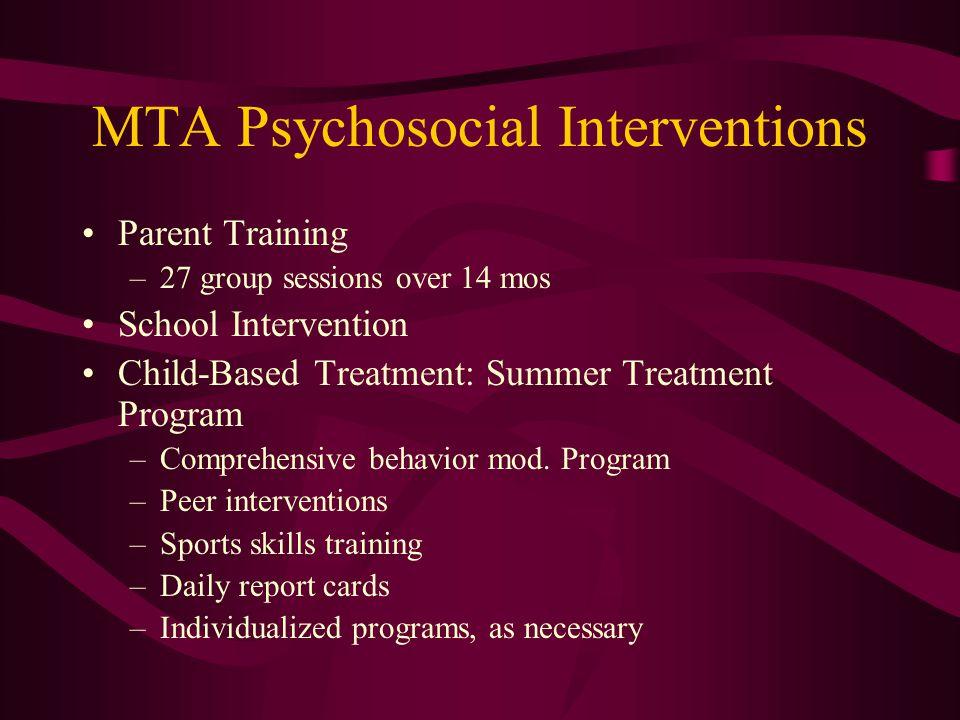 MTA Psychosocial Interventions