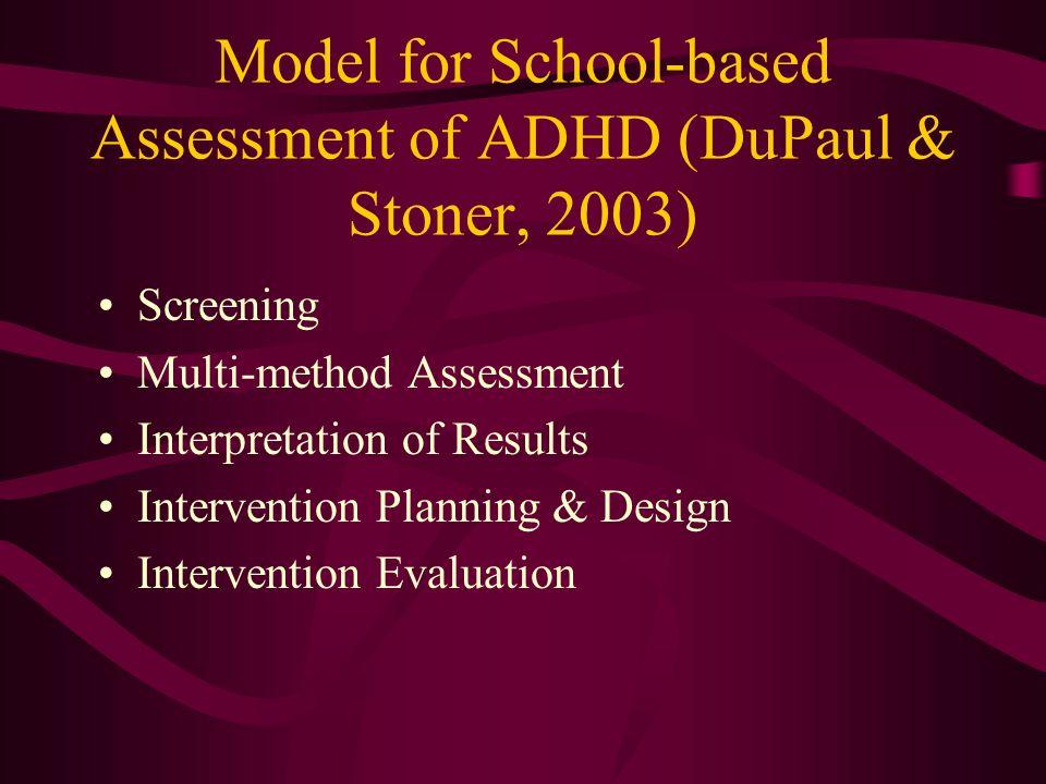 Model for School-based Assessment of ADHD (DuPaul & Stoner, 2003)