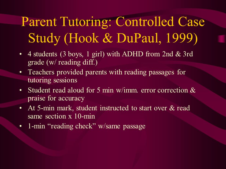 Case study of adhd child