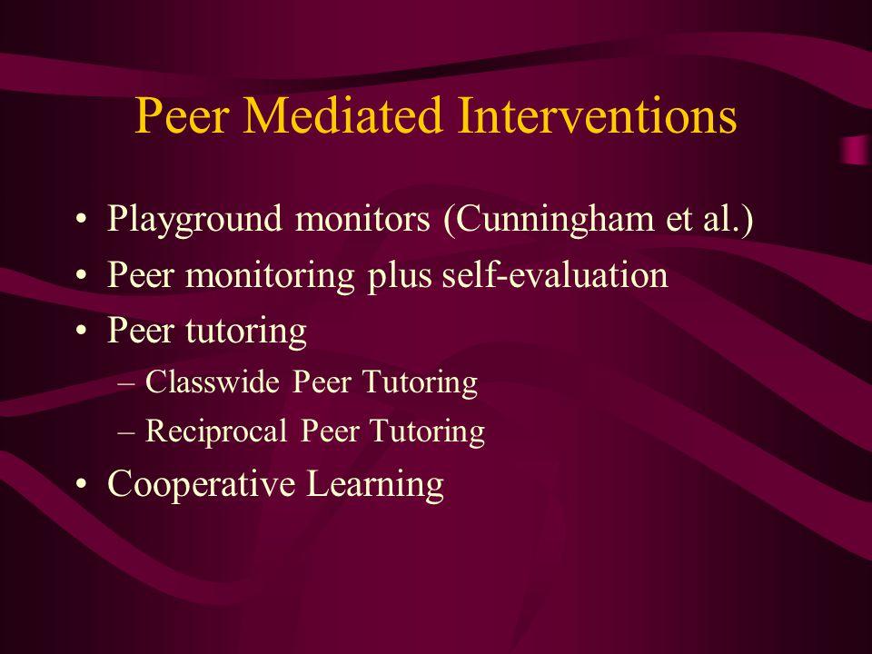 Peer Mediated Interventions