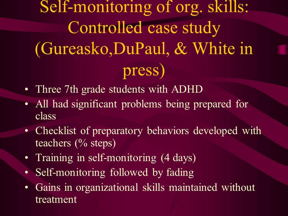 Self-monitoring of org