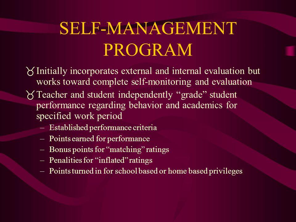 SELF-MANAGEMENT PROGRAM