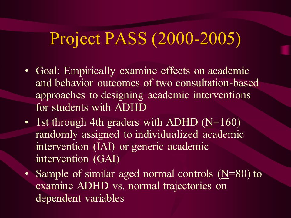 Project PASS (2000-2005)