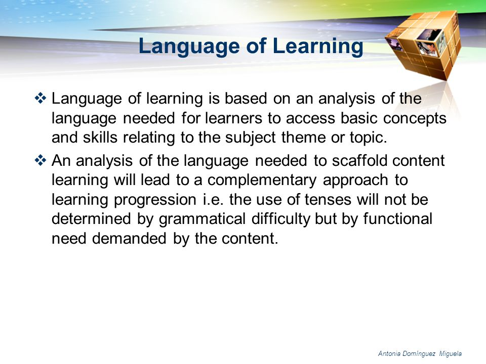 Language of Learning
