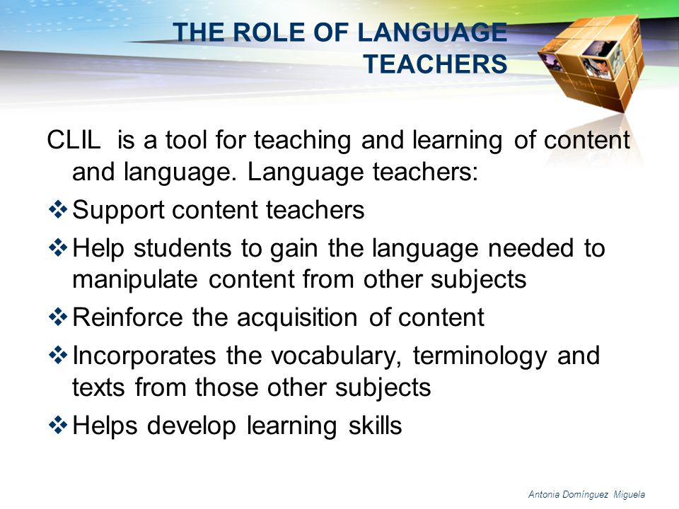 THE ROLE OF LANGUAGE TEACHERS