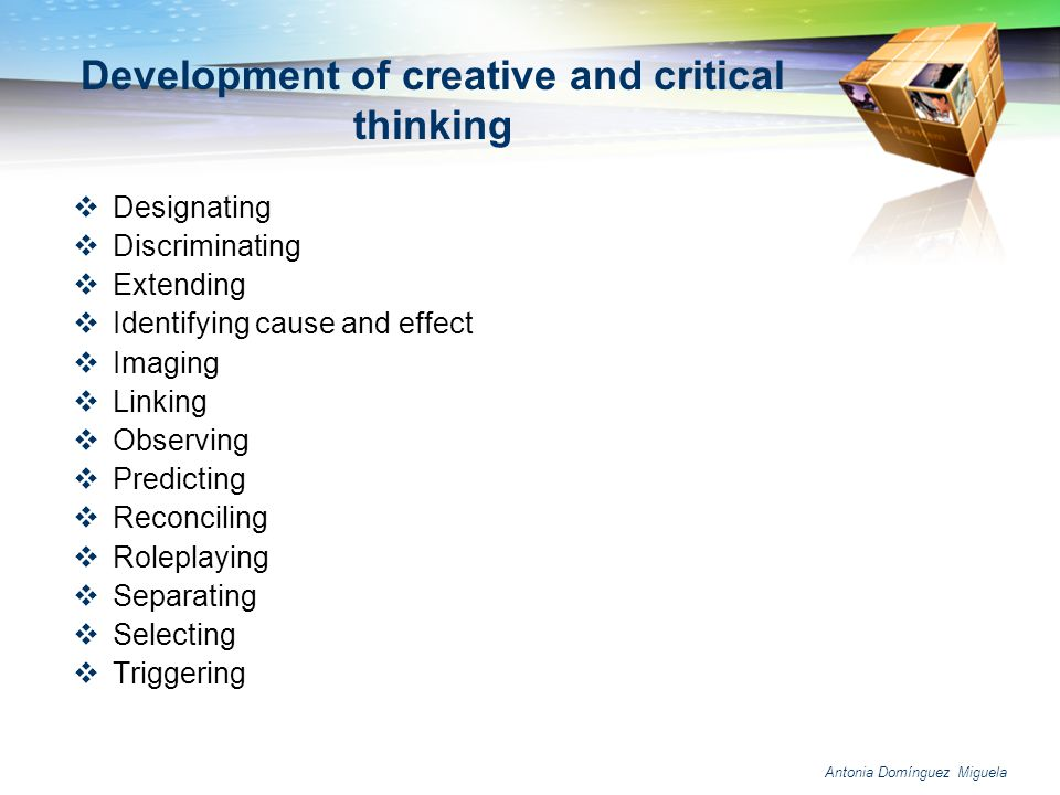 Journal of developmental education critical thinking