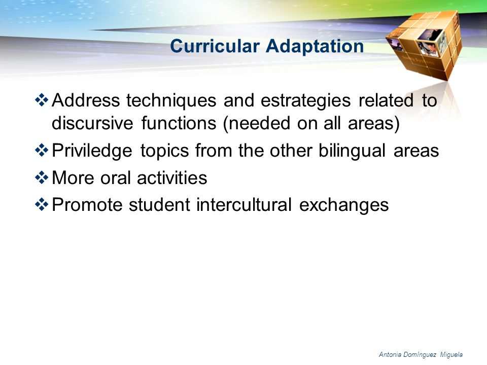 Curricular Adaptation
