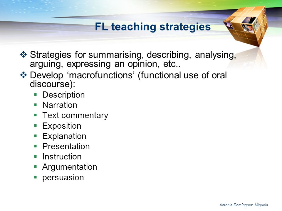 FL teaching strategies