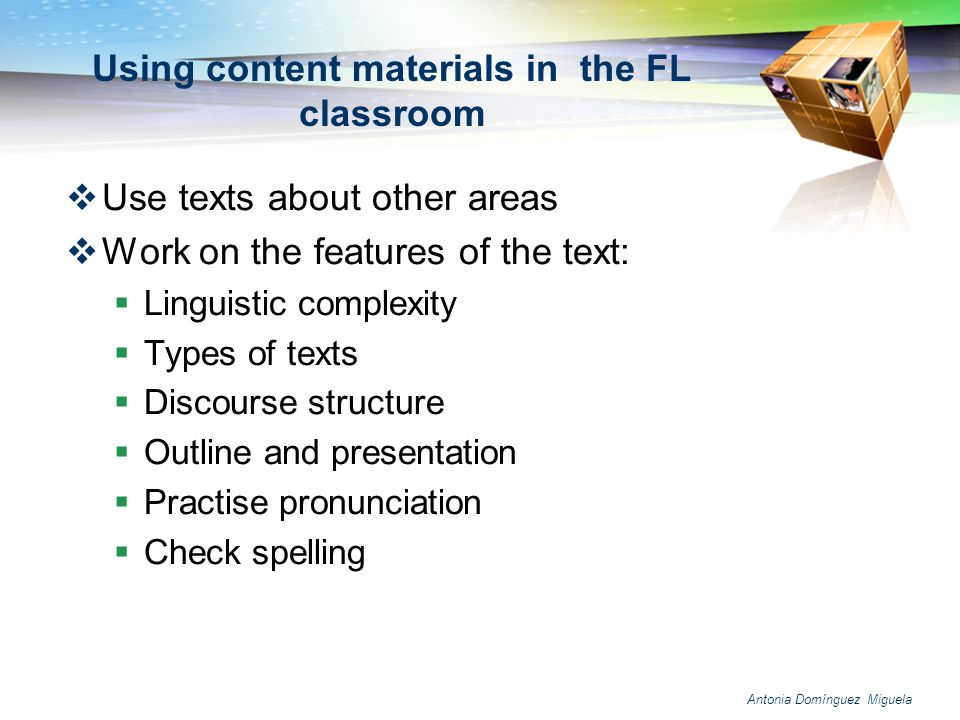 Using content materials in the FL classroom