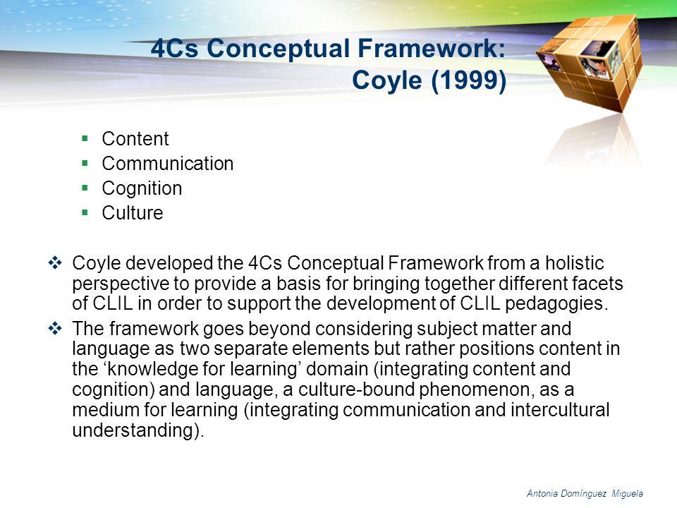 4Cs Conceptual Framework: Coyle (1999)
