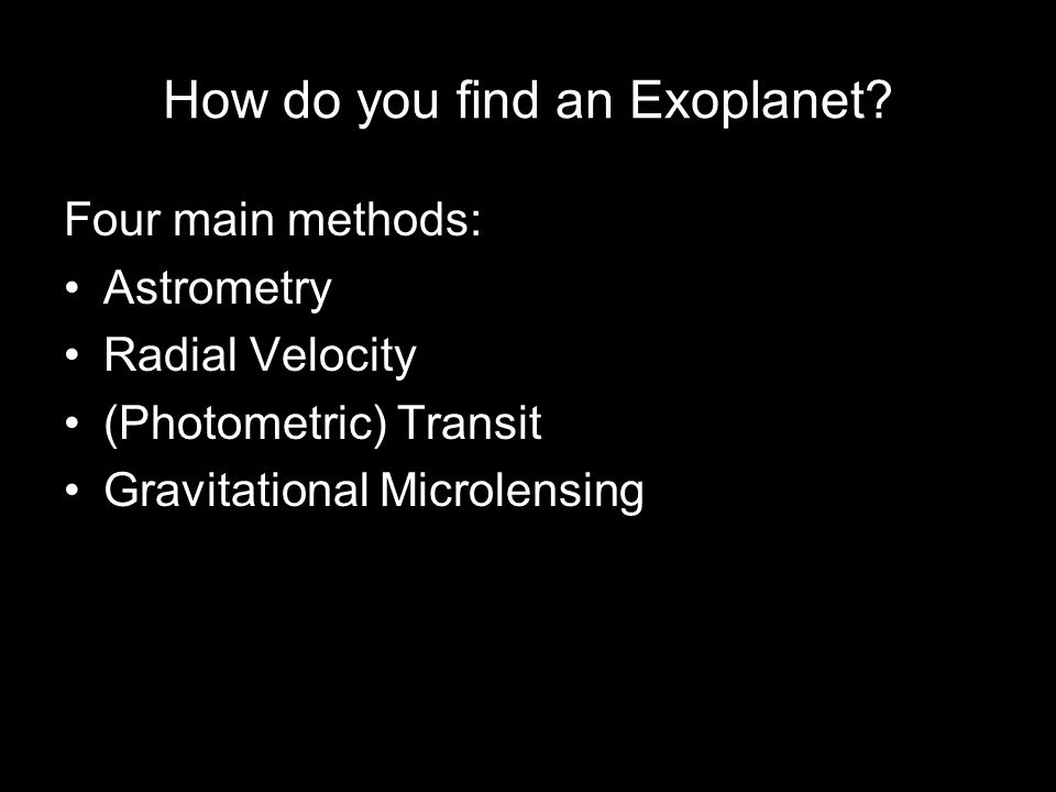 How do you find an Exoplanet